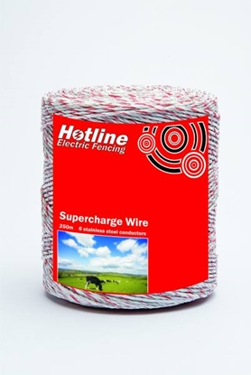 Picture of 250mtr 6 Strand Poly Wire (Red & White)
