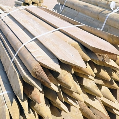 Picture of 1.8m x 112mm 1/2 round ptd Posts