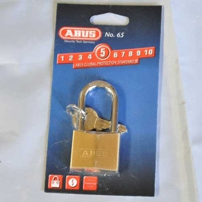 Picture of 65-40 Long Shackle Brass Padlock