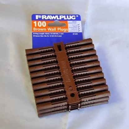 Picture of Rawl Plugs Brown (100pp)