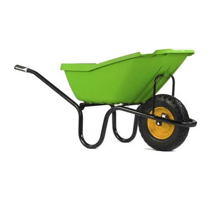 Picture of Green 110Ltr Wheel Barrow Puncture-Free