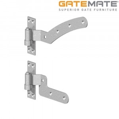 "Picture of 12"" Galv Curved Rail Hinge Kits LH"