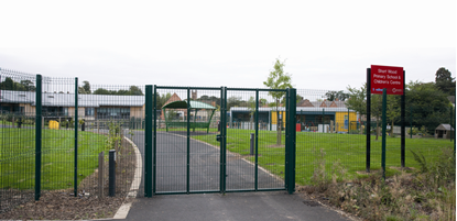Picture of 1.2m W x 2.4m H Pedestrian Gate RAL6005 Green
