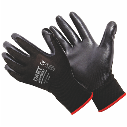 Picture of Handmax Black Nitrile Glove Size L