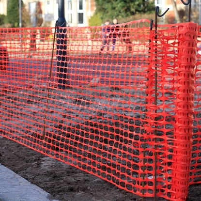 Picture of 50m x 1m Orange barrier fence