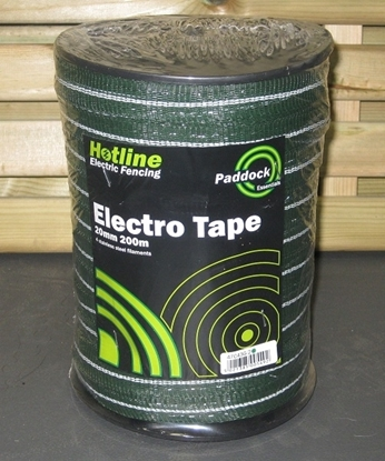 Picture of 200mts x 20mm Green Paddock Tape