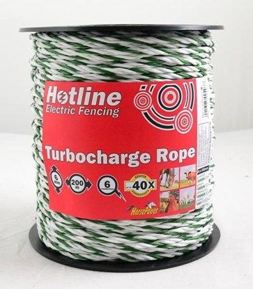 Picture of 200m x 6mm Turbocharge Green & White Rope