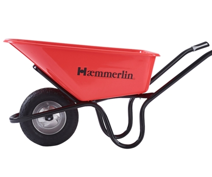 Picture of Crusader Red 120ltr H/D  P/Free Wheel barrow