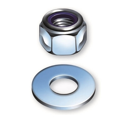 Picture of Sitemate BZP Nylon Nuts & Washers
