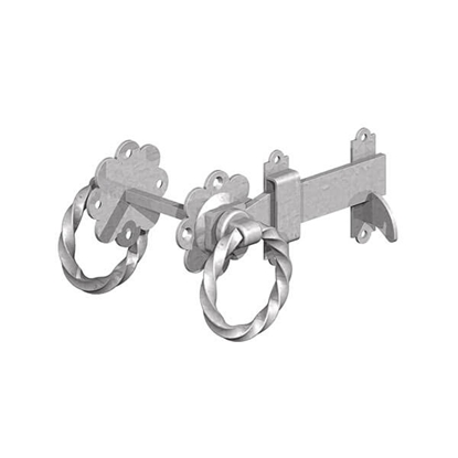 """Picture of Pre-Packed GALV 6"""" Twisted Ring Gate Latch"""