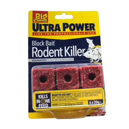 Picture of Ultra Power Block Bait Rodent Killer 6 x 20g